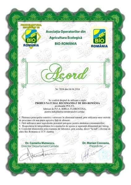 Acord Bio Romania-Polen crud